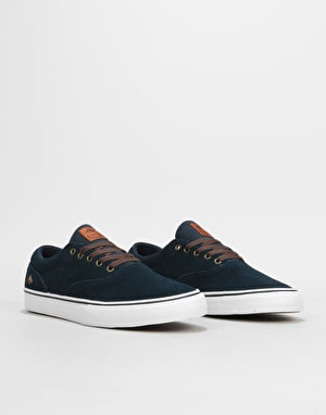 Emerica Provost Slim Vulc Skate Shoes - Navy/White/Gum