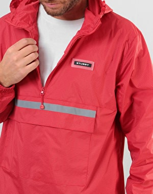 Stüssy Contrast Ripstop Anorak - Red