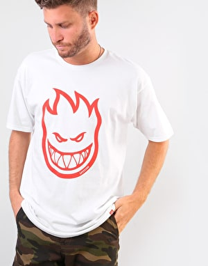 Spitfire Bighead T-Shirt - White/Red