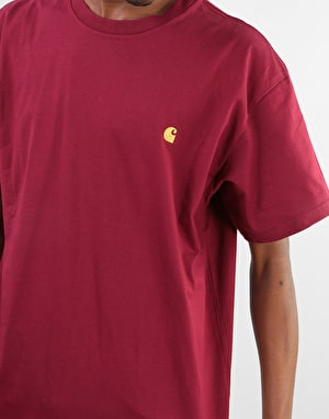 Carhartt S/S Chase T-Shirt - Mulberry/Gold