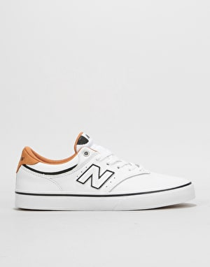 New Balance Numeric 255 Skate Shoes - White/White