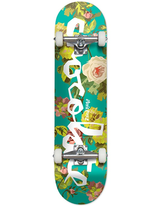 Chocolate Perez Floral Chunk Complete Skateboard - 7.75""
