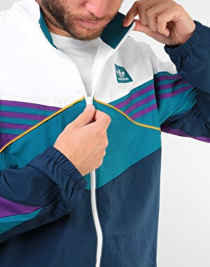 Adidas Court Jacket - White/Collegiate Navy/Tribe Purple/Real Teal