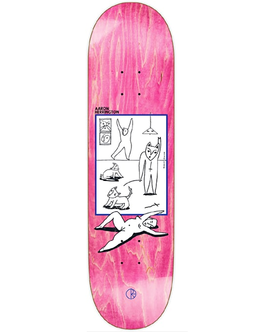 Polar Herrington Evol Love Skateboard Deck - 8""