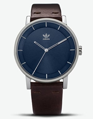 Adidas District L1 Watch - Silver/Navy Sunray/Dark Brown