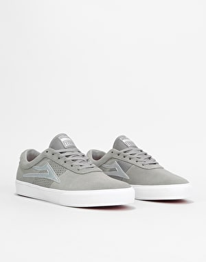 Lakai Sheffield Skate Shoes - Grey/Silver Suede