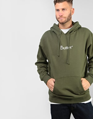 Butter Goods Classic Logo Pullover Hoodie - Olive