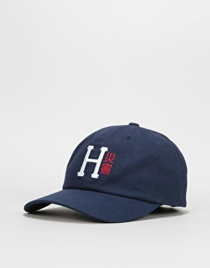 HUF Disaster Curved Visor 6 Panel Cap - Moon Indigo