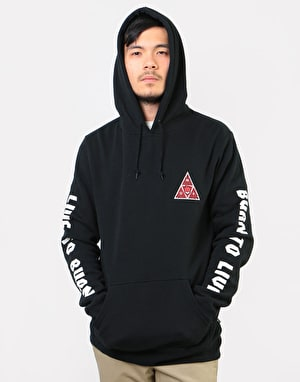 HUF x Spitfire Triple Triangle Pullover Hoodie - Black