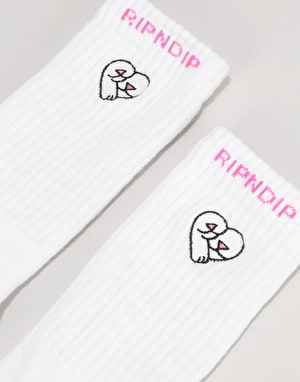 RIPNDIP Love Nerms Socks - White/Pink