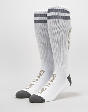 Spitfire Heads Up Socks - White/Grey