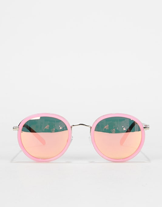 589b940f2042d Glassy Sunhater Lincoln Sunglasses - Transparent Pink Pink Mirror ...