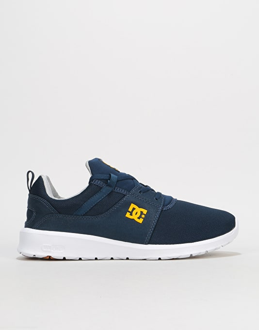 DC Heathrow Skate Shoes - Navy/Gold