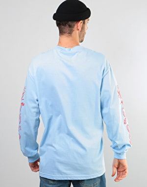 Pass Port Drunk At Your Wedding L/S T-Shirt - Powder Blue