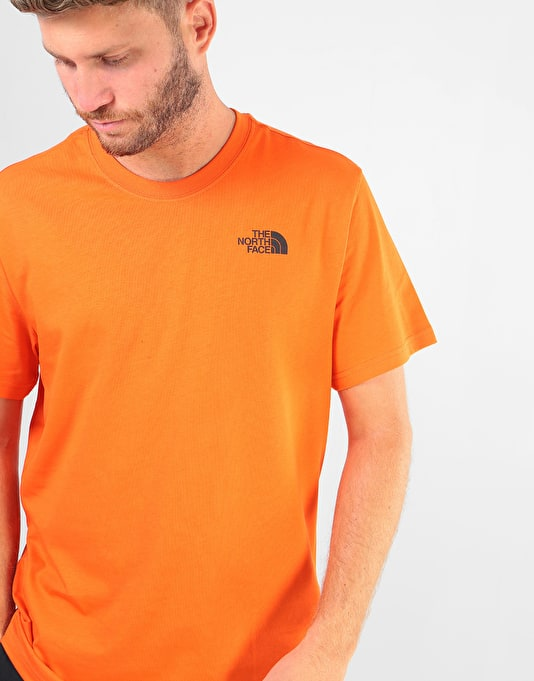 The North Face S/S Red Box T-Shirt - Perisan Orange