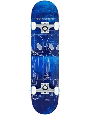 Alien Workshop Blueprint Complete Skateboard - 7.625