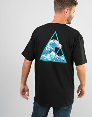 HUF High Tide Triple Triangle T-Shirt - Black