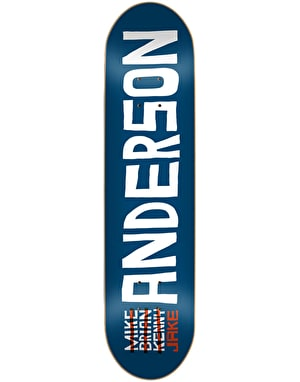 Skate Mental Anderson Name Skateboard Deck - 8.5