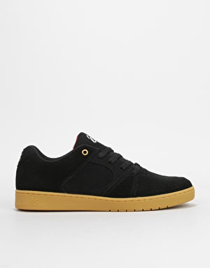 éS Accel Slim Skate Shoes - Black/Gum