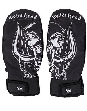 686 x Motorhead Mountain 2019 Snowboard Mitts - Black