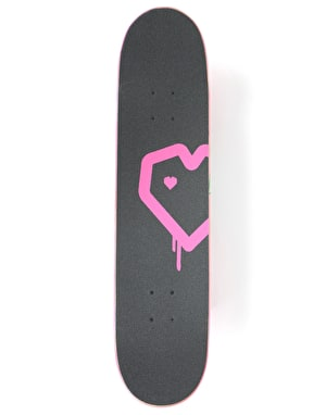Blueprint Spray Heart Complete Skateboard - 7.625