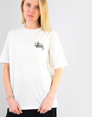 Stüssy Womens Basic Logo Pigment Dyed T-Shirt - Natural