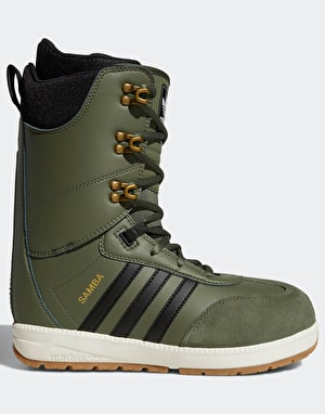 Adidas Samba ADV 2019 Snowboard Boots - Base Green/Core Black/Off Whit
