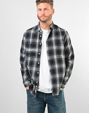 Bellfield Vallegrande Check L/S Flannel Shirt - Black