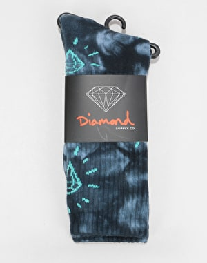 Diamond Supply Co. Outshine Washed Crew Socks - Black