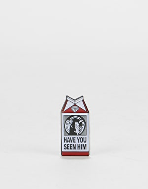 Powell Peralta Chin Milk Carton Lapel Pin - Multi