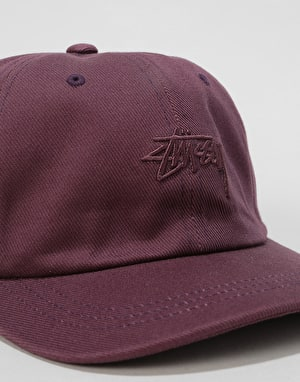 Stüssy Stock Big Twill Low Pro Cap - Purple