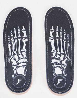 Footprint Skeleton White Kingfoam Orthotic Insoles
