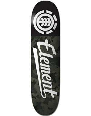 Element Bark Camo Script Skateboard Deck - 7.75