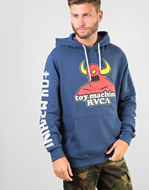 RVCA x Toy Machine Logo Pullover Hoodie - Seattle Blue