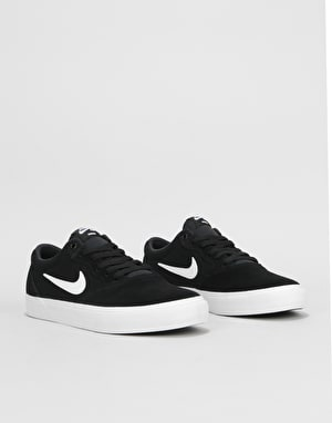 Nike SB Chron SLR Skate Shoes - Black/White