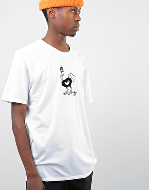 Nike SB Ostrich Dri-Fit T-Shirt - White/White/Black