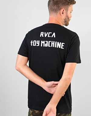 RVCA x Toy Machine Small Logo T-Shirt - Black