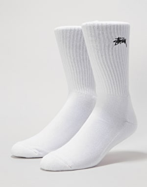 Stüssy Stock Crew Socks - White