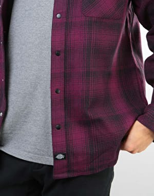 Dickies Linville L/S Shirt - Maroon