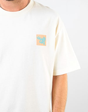 The Quiet Life Block Logo T-Shirt - Cream