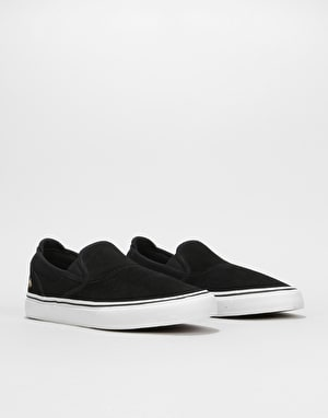 Emerica Wino G6 Slip-On Skate Shoes - Black/White/Gold