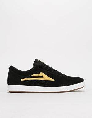 Lakai Sheffield XLK Skate Shoes - Black/Gold Suede