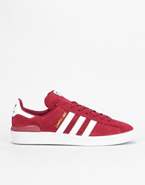 Adidas Campus ADV Skate Shoes - Collegiate Burgundy/White/White