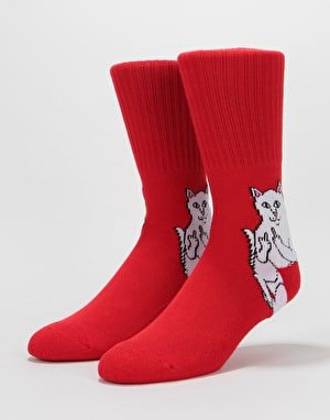 RIPNDIP Lord Nermal Socks  - Red