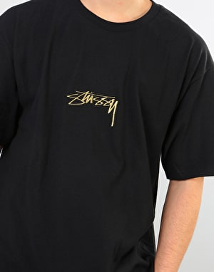 Stüssy Smooth Stock T-Shirt - Black