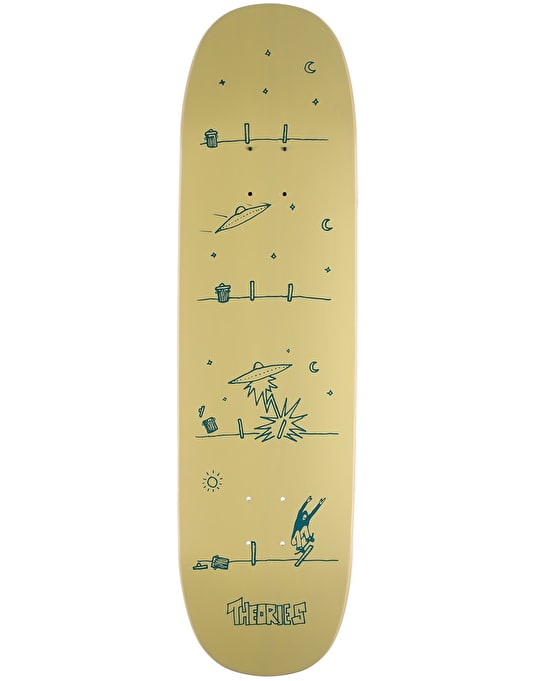 Theories How They Got Here UFO Shape Skateboard Deck - 8.5""