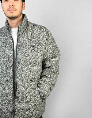 Obey Bouncer Puffer Jacket - Khaki Leopard