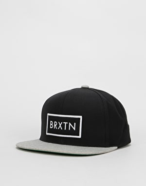 Brixton Rift Snapback Cap - Black/Light Heather Grey