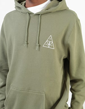 HUF Memorial Triple Triangle Pullover Hoodie - Dark Olive