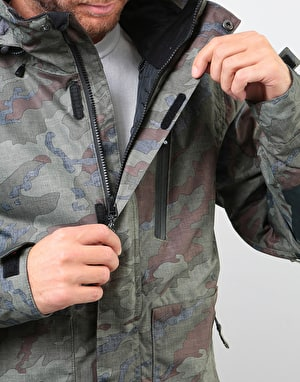 Bonfire Strata Insulated 2019 Snowboard Jacket - Olive Camo/Black